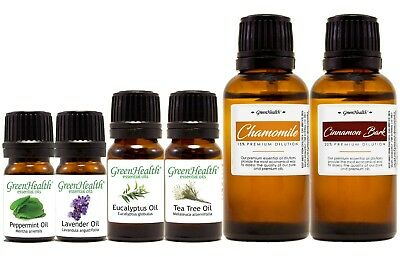 Green Health Essential Oils 60+ Choices - Free Shipping - Registered US Brand