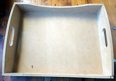Wooden Shapes  - Unpainted Wooden Tray
