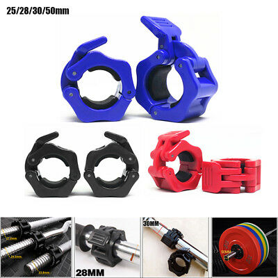 1 Pairs 25/28/ 30/50mm Olympic Barbell Lock Clamp Collar Clip Dumbbell Spinlock