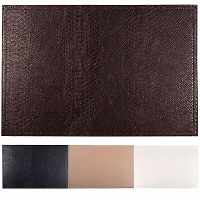 Set Of 4 Faux Leather Placemats / Coasters Dining Table Place Settings Mats