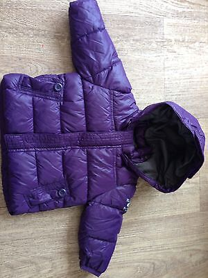 Girls 3-6m Purple Puffa Jacket From Zara