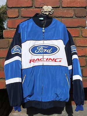 Ford Racing Jacket Used Once--Great Condition--Mancave Display Or Use-- Size Xl