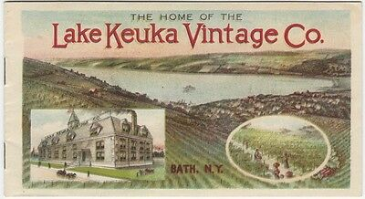 1902-3 Color Booklet for Lake Keuka Vintage Co. Wines & Spirits - Bath New York