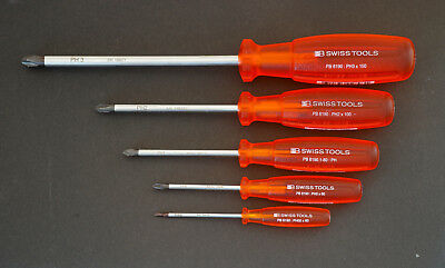PB SWISS TOOLS 6190 PH Kreuz Phillips Multicraft Schraubendreher Satz 5tlg.NEU