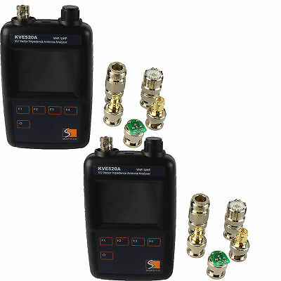 2XVHF/UHF Color Graphic Vector Impedance Antenna Analyzer KVE520A+10X Connectors