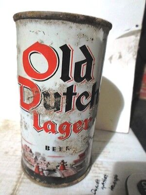 "Old Dutch Lager -""""maier Brewing Co., Los Angeles""""- Flat Top Beer Can"