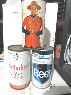 Pathmark / Drewry`s / Horlacher Flat Top Beer Cans