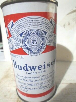"1958 Budweiser -""""los Angeles, California""""- Flat Top Beer Can"
