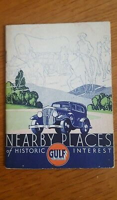 Vintage 1930's GULF Refining Co. HISTORIC PLACES Travel Booklet PENNSYLVANIA
