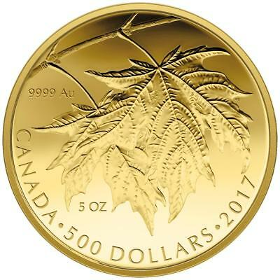 Kanada 500 Dollar 2017 - The Glorious Maple Leaf - 3. Ausgabe - 5 Oz Gold PP