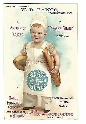 Old Trade Card Magee Furnace Co Boston Sold By WB Bangs Provincetown Bread Baker