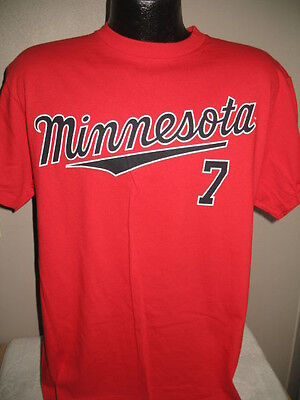5317483eaf2 MLB Minnesota Twins Baseball Joe Mauer 7 Jersey Shirt Mens Majestic Nwt