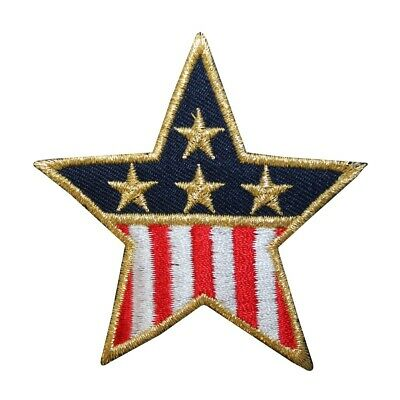 4f1567c76bf ID 1065C Patriotic Star Patch American Flag Banner Embroidered Iron On  Applique