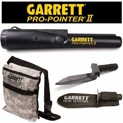 Garrett Pro Pointer II Two Metal Detector Pinpointer with Camo Digger's Pouch a
