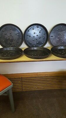 "Lot Of (6) ""domino's Pizza""  Commercial 12"" Deep Dish Pizza Pans"