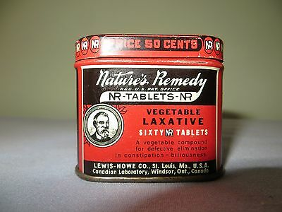 Vintage Natures Remedy Tablets  Laxative empty tin