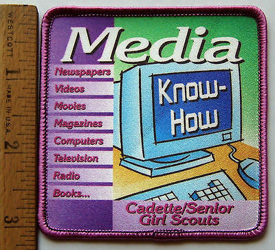 Issues for Girl Scout 1999 CADETTE/SENIOR MEDIA KNOW-HOW PATCH Radio TV Effects