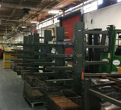 [2]  8'L x 8'H MECO OMAHA Heavy-Duty, Double-Sided Cantilver Racks/Shelving