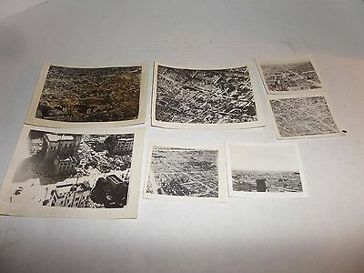 Lot of 7 WW2 Black and White Photographs Bombed/Destroyed Tokyo from B-29s lot 4