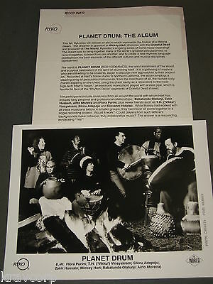 Mickey Hart 'Planet Drum' 1991 Press Kit—Photo--Grateful Dead