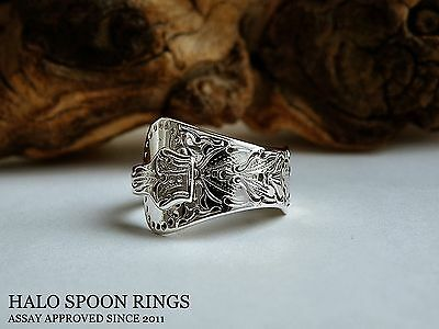 Beautiful Ladies Norwegian Flat Rose Silver Spoon Ring Only One Available!!!