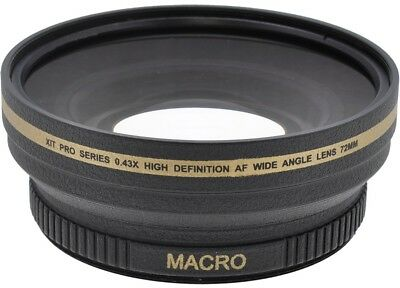 Xit 72mm High Definition Wide Angle Lens For Digital Camera & Camcorders
