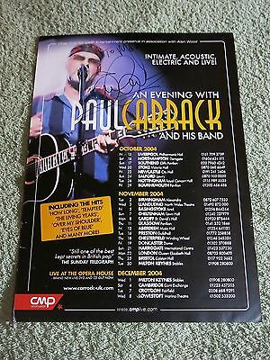PAUL CARRACK ~ AUTOGRAPHED ~ Tour UK Poster 2004!
