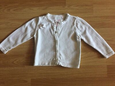 New Girls White Early Days Cardigan - 6 - 9 Months - Mint Condition