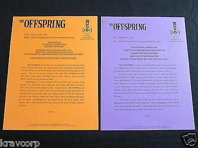 The Offspring—Two 1999 Press Releases