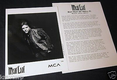 Meat Loaf 'Bat Out Of Hell Ii' 1993 Press Kit--Photo