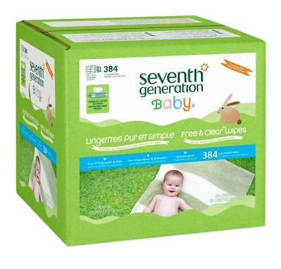 Seventh Generation Free & Clear Baby Wipes - 384 Count