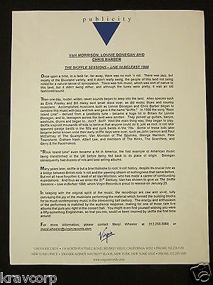 Van Morrison 'The Skiffle Sessions' 2000 Press Release