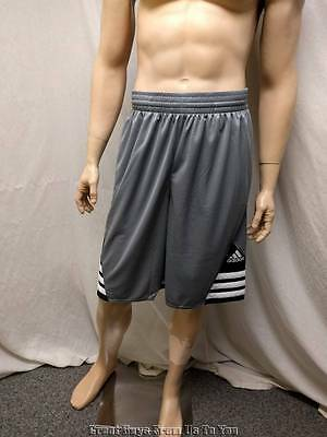 Adidas Mens Size S Small Gray Polyester Superstar 2.0 Performance $30 Shorts New