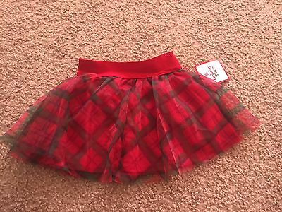 Holiday Time girls size 3T red green skirt NWT Gorgeous Christmas
