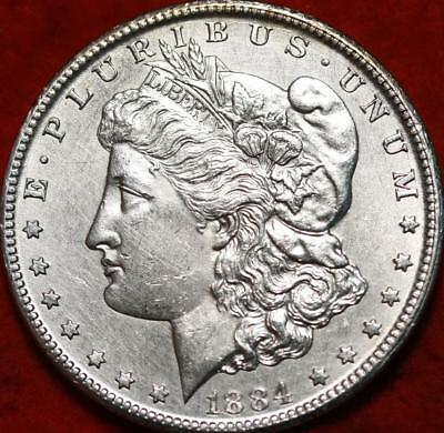Uncirculated 1884-CC Carson City Mint Silver Morgan Dollar Free S/H