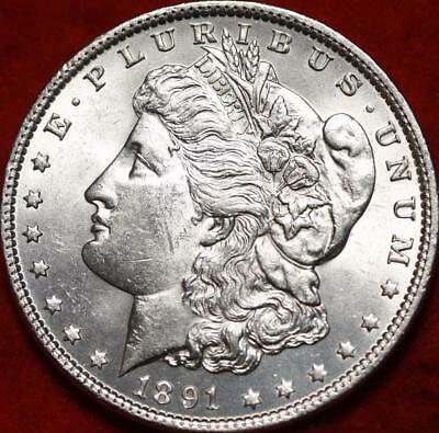 Uncirculated 1891  Philadelphia Mint Silver Morgan Dollar Free S/H