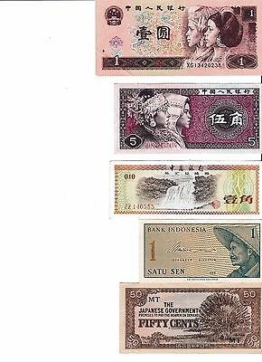 Various Notes Bank Notes Of The World