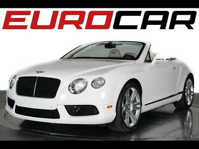 2013 Bentley Continental GT V8 Convertible 2013 Bentley Continental GTC V8 - Stunning White On White w/ Brown Top