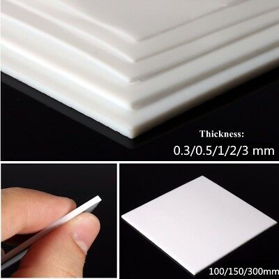 100mm - 300mm PTFE Teflon Film Sheet Plate Thickness 0.3mm 0.5mm 1mm 2mm 3mm US