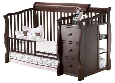 Sorelle Princeton Crib and Changer Toddler Guard Rail - Cherry