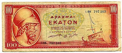 Greece Pick 92B 1955 100 Apaxmai Fine Nr 6.50