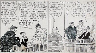 HARRY TUTHILL Original Daily Comic Strip ART of THE BUNGLE FAMILY, 1937