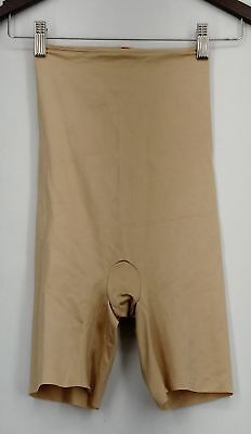 Spanx Shaper S Slimplicity High Waist Mid-Thigh Nude Beige New