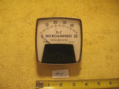 General Electric gauge-meter microamperes DC-type do-91 untested-steampunk