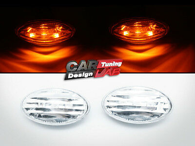 LED Clear Side Marker Turn Signal Lights Indicator Fits MINI COOPER R50 R52 R53