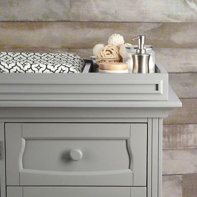 Eco Chic Baby Dorchester Changing Topper - Moon Grey