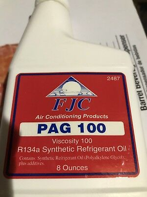 Fjc Pag 100 R134A Synthetic Refrigerant A/c Compressor Auto Oil #2487 8 Oz.
