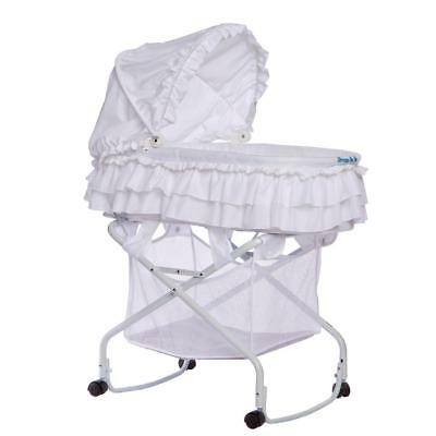 Dream On Me Layla 2-in-1 Bassinet to Cradle - White