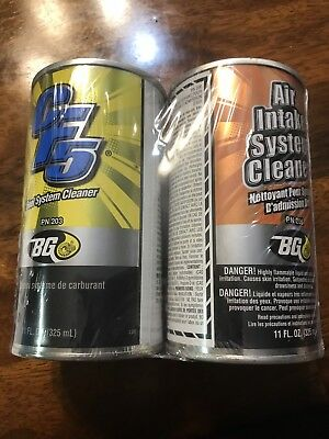 Bg Products Cf5 #203 Fuel System Cleaner Like 44K & Air Intake System Cleaner