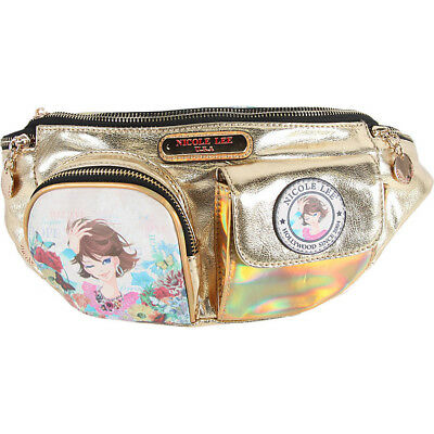 Nicole Lee Xochil Print Fanny Pack - Gold Waist Pack NEW
